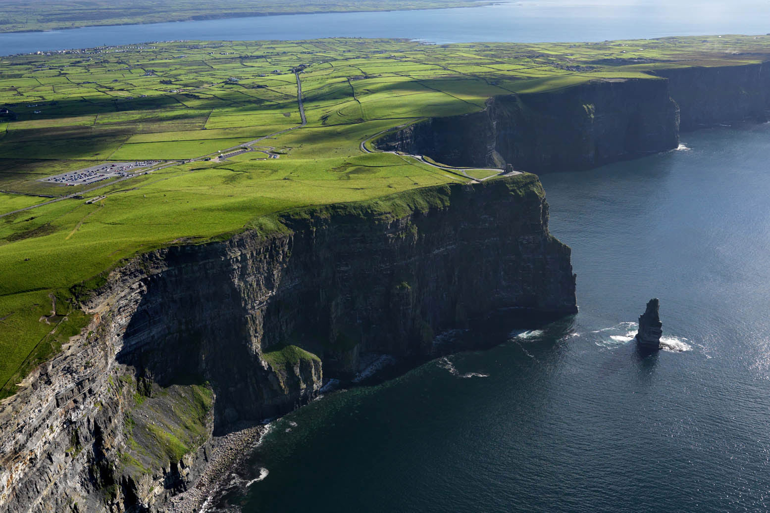Cliffs of Moher. Ireland meets the Atlantic Ocean